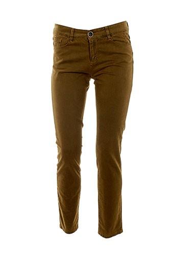 may&june pantalons femme de couleur marron