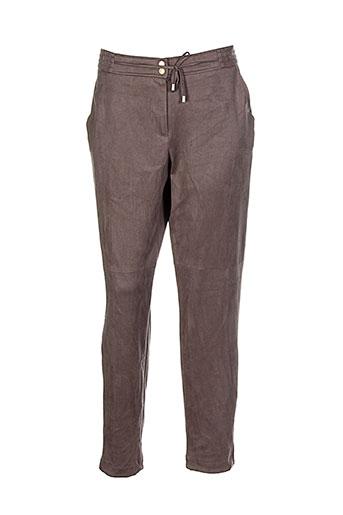bianca pantalons femme de couleur marron