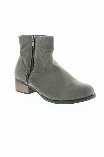 coco et perla boots femme de couleur gris