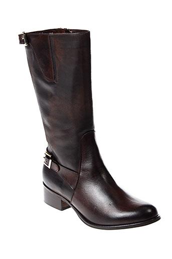 emanuele et crasto bottes femme de couleur marron