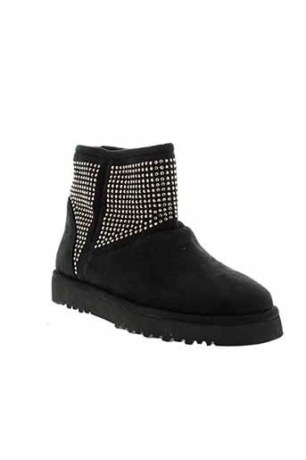 cafe et noir boots femme de couleur noir