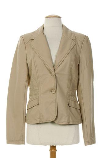 escandelle vestes femme de couleur beige
