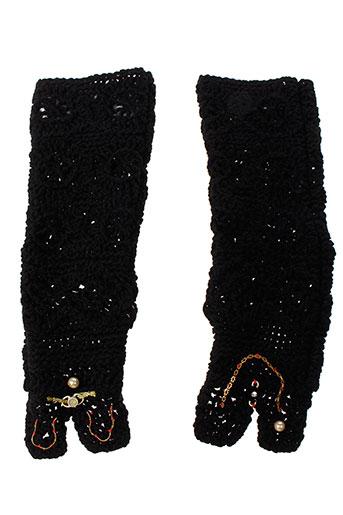 daniela et dallavalle echarpes et gants femme de couleur noir