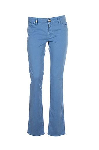 missoni pantalons femme de couleur bleu