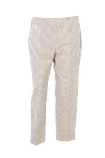 piazza sempione pantalons femme de couleur beige