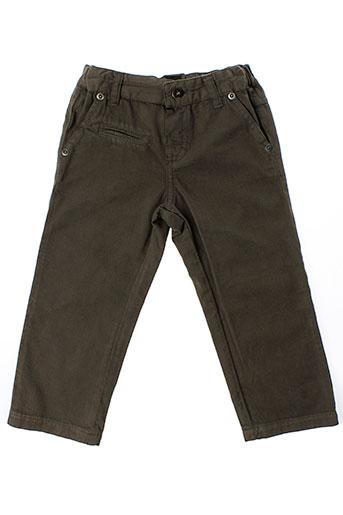 berlingot pantalons fille de couleur marron