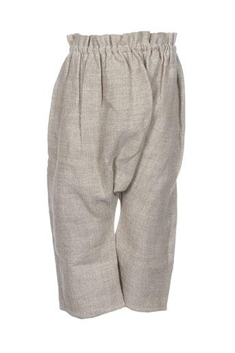 le vestiaire de jeanne pantalons fille de couleur beige