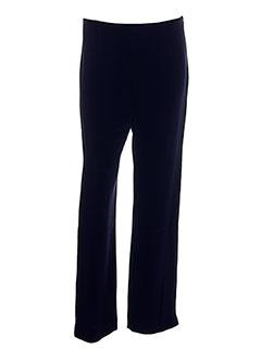 Pantalon chic bleu CHRISTIE DE LA RUE pour femme