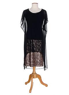 Robe mi-longue noir PAUL BRIAL pour femme