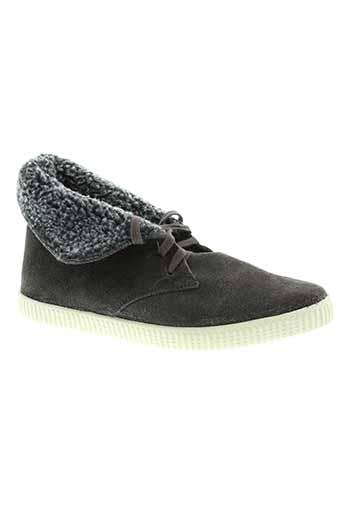 victoria boots femme de couleur gris