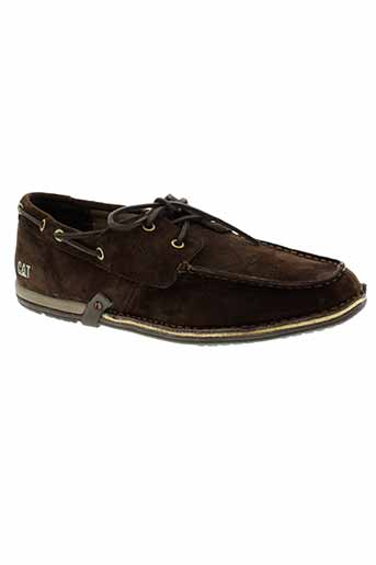 caterpillar mocassins homme de couleur marron