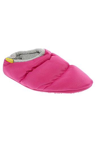 segue chaussons femme de couleur rose