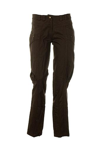 womn pantalons et citadins femme de couleur marron