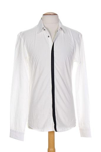 costume nemutso chemises homme de couleur blanc