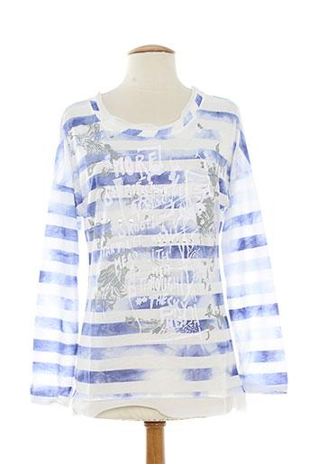 messcalino t-shirts femme de couleur bleu