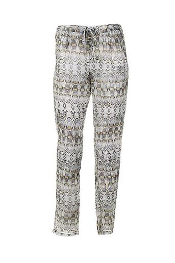 messcalino pantalons femme de couleur blanc