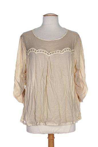 daniela dallavalle chemises femme de couleur beige