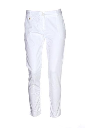 nana nucci pantalons femme de couleur blanc