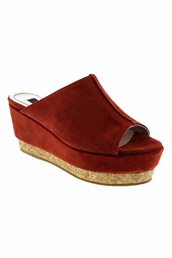 logan chaussures femme de couleur rouge