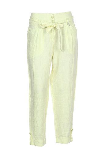 jocavi pantacourts femme de couleur jaune
