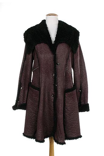 o.k.s manteaux femme de couleur violet