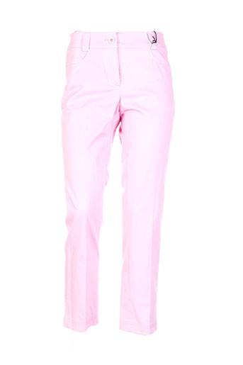 jc trigon pantalons femme de couleur rose
