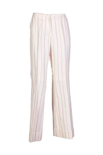 birger et mikkelsen pantalons femme de couleur beige