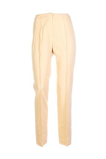 regina rubens pantalons femme de couleur beige