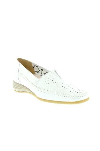 ombelle chaussures femme de couleur blanc