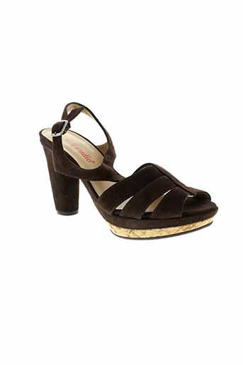 vidi studio chaussures femme de couleur marron