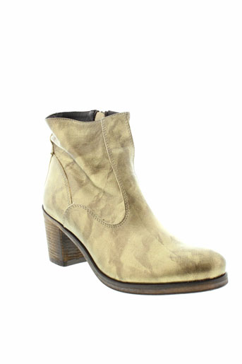 b et confiture boots femme de couleur jaune