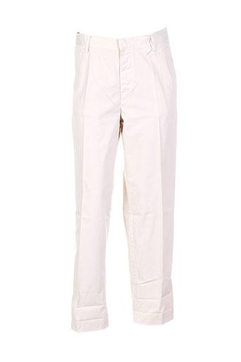 bensimon pantalons femme de couleur blanc