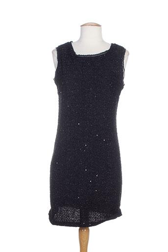 Robe mi-longue noir CHOKLATE pour femme