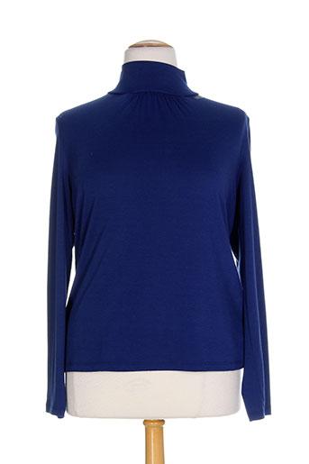 miss ao t-shirts femme de couleur bleu