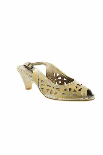 pietro bianchi chaussures femme de couleur jaune