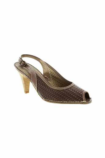 pietro bianchi chaussures femme de couleur marron