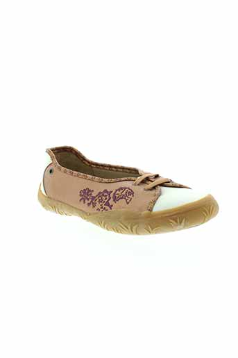 noel ballerines fille de couleur marron