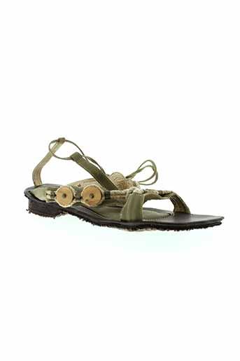 haziel chaussures femme de couleur vert
