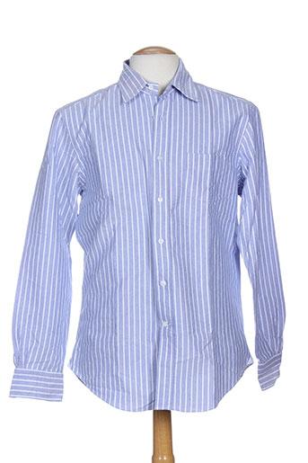 breuer chemises homme de couleur bleu