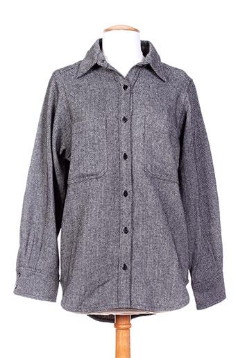 ambre babzoe chemises femme de couleur gris