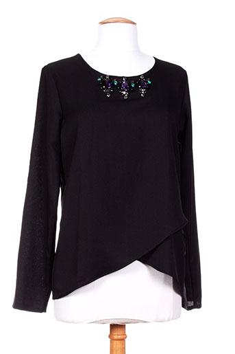 ambre babzoe t-shirts femme de couleur noir