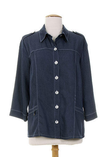 gd chemises femme de couleur bleu