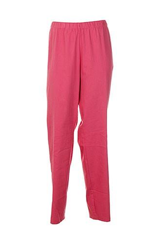 exelle pantalons femme de couleur rose