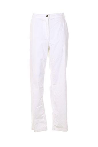 no secret pantalons femme de couleur blanc