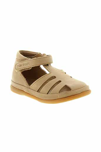 pom et d et api sandales et nu et pieds fille de couleur marron