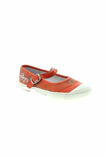 pataugas chaussures fille de couleur orange