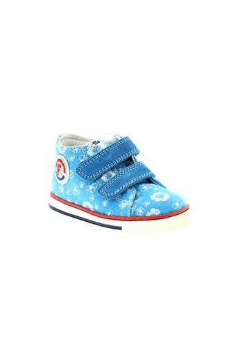 falcotto chaussures fille de couleur bleu