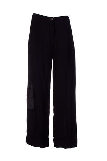 fashion vip pantalons femme de couleur noir