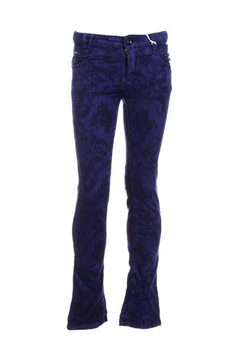 baker bridge pantalons fille de couleur bleu