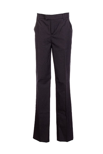little couture pantalons fille de couleur noir